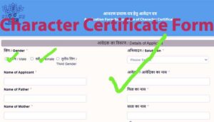 character certificate form